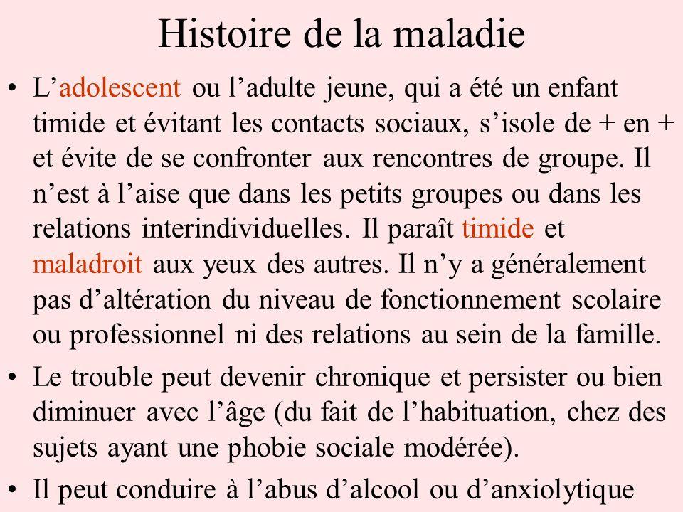 Histoire de la maladie