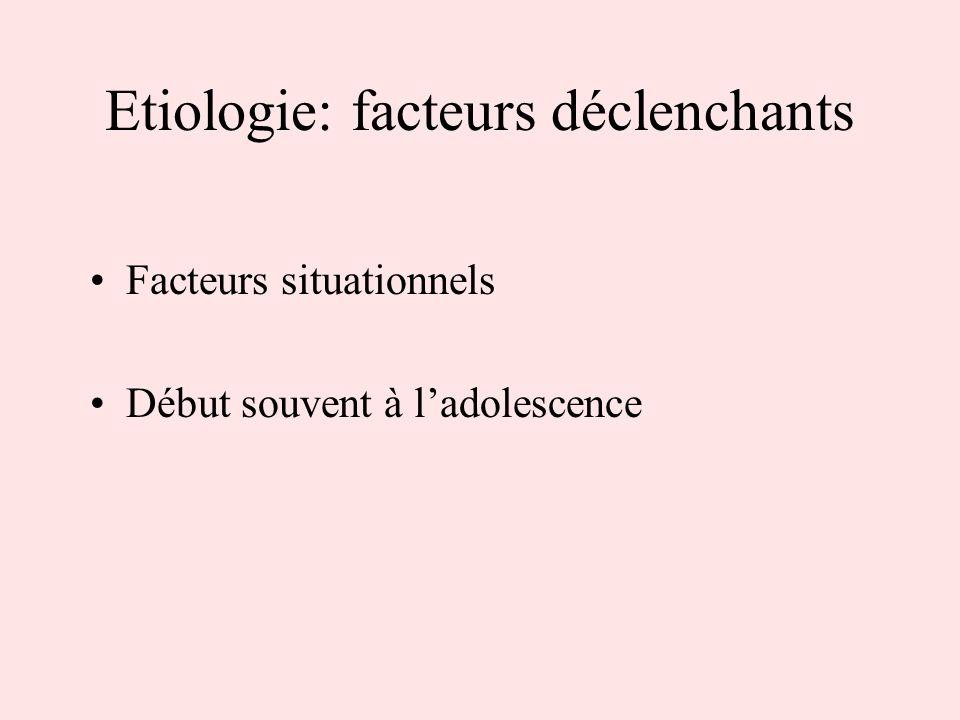 Etiologie: facteurs déclenchants