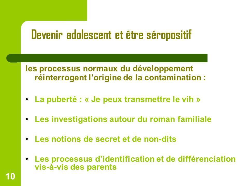 Devenir adolescent et être séropositif
