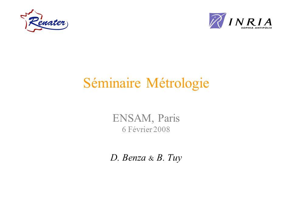 Séminaire Métrologie ENSAM, Paris 6 Février 2008