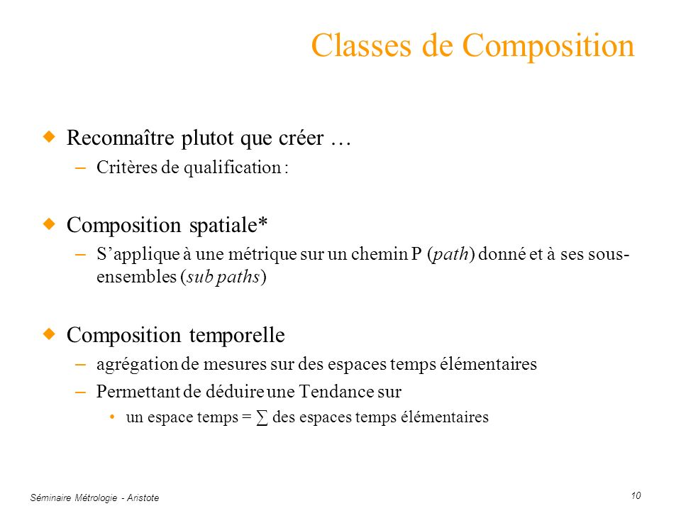 Classes de Composition