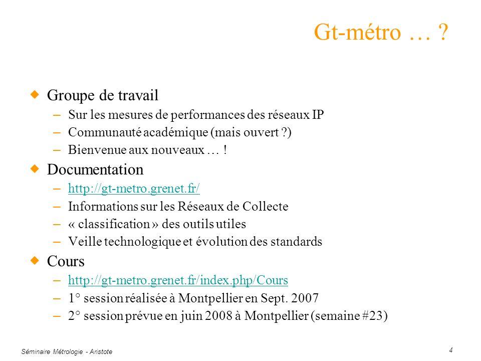 Gt-métro … Groupe de travail Documentation Cours