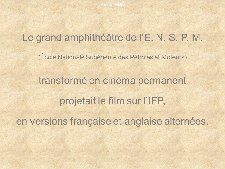 Le grand amphithéâtre de l'E. N. S. P. M.