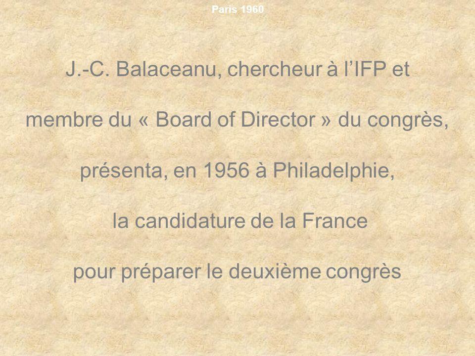J.-C. Balaceanu, chercheur à l'IFP et