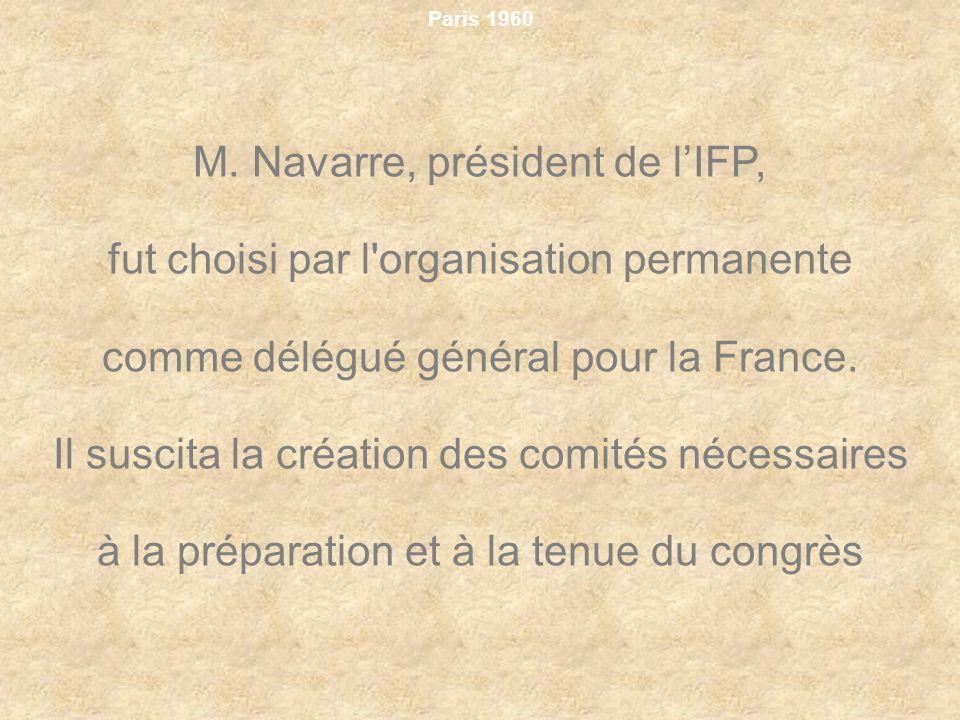 M. Navarre, président de l'IFP,