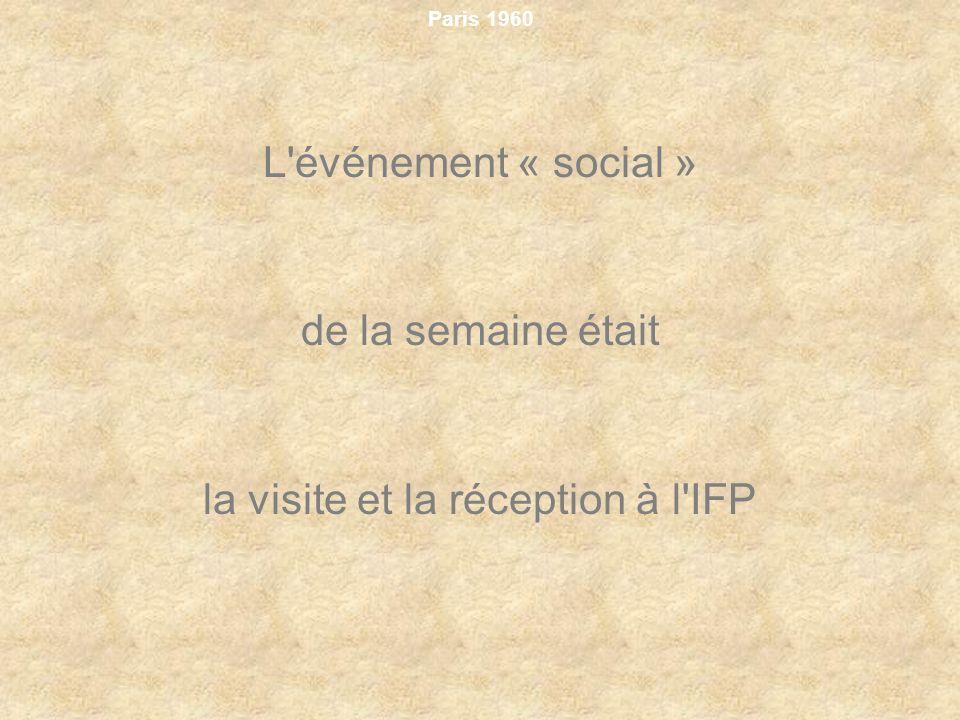 la visite et la réception à l IFP