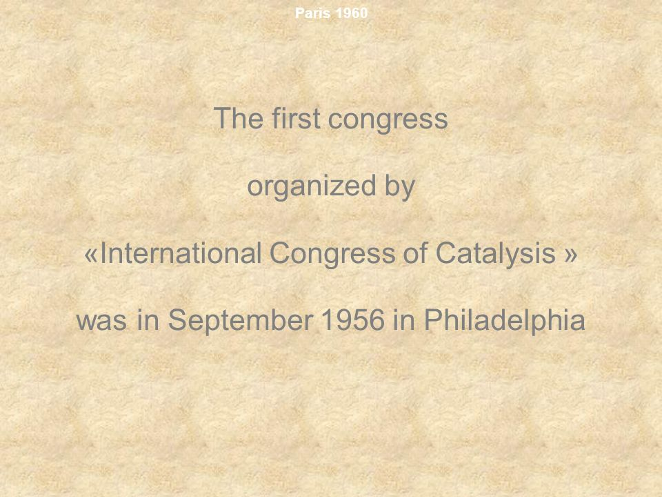 «International Congress of Catalysis »