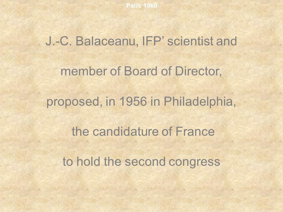 J.-C. Balaceanu, IFP' scientist and member of Board of Director,