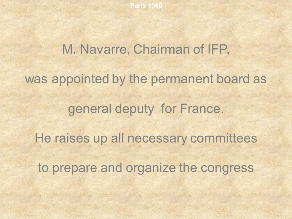 M. Navarre, Chairman of IFP,