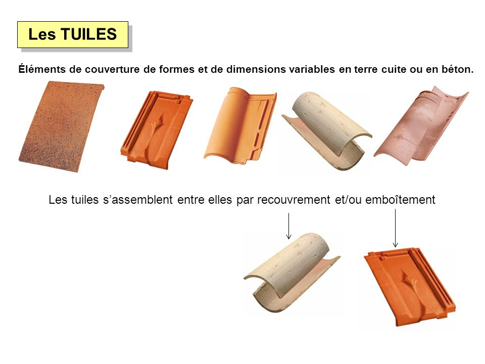 Technologie construction ppt video online t l charger - Difference tuile beton et terre cuite ...