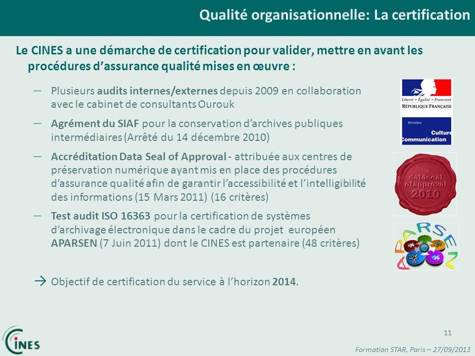 Qualité organisationnelle: La certification