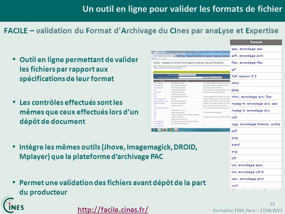 Un outil en ligne pour valider les formats de fichier