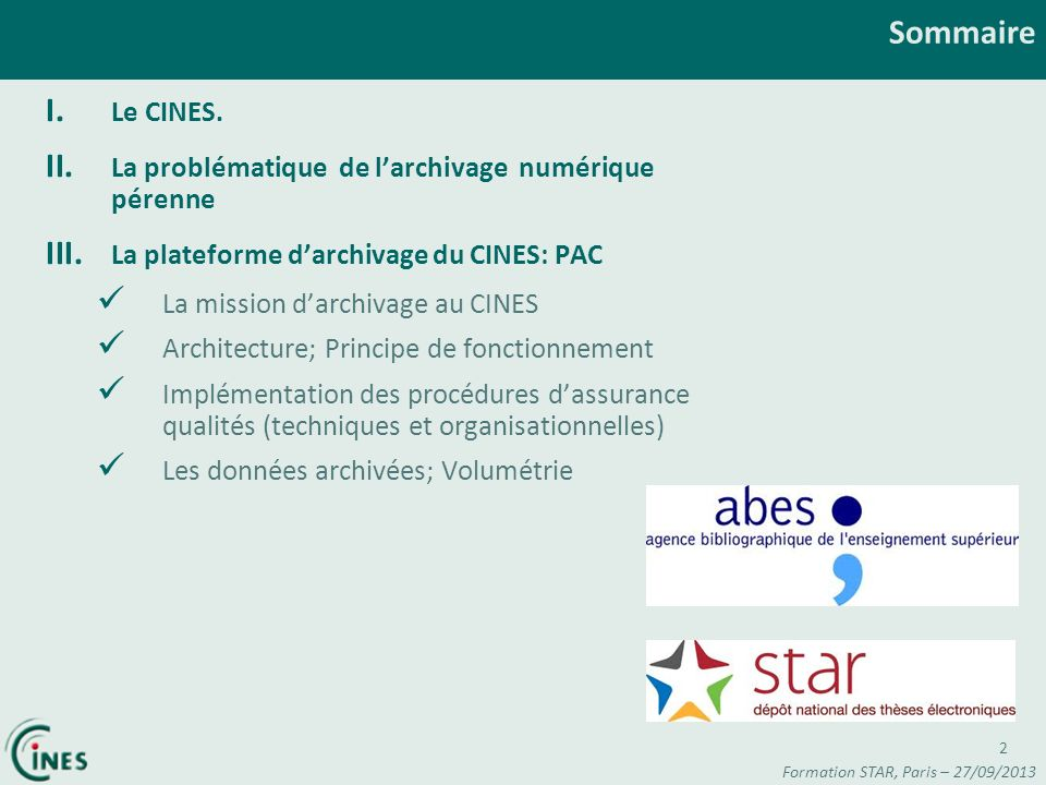 Formation STAR, Paris – 27/09/2013