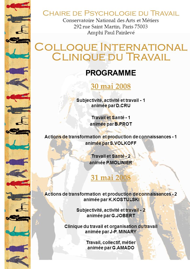 Colloque International Clinique du Travail