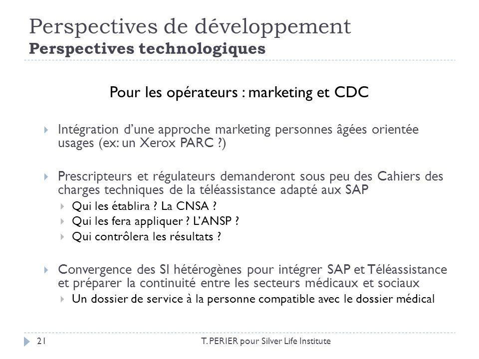 Perspectives de développement Perspectives technologiques