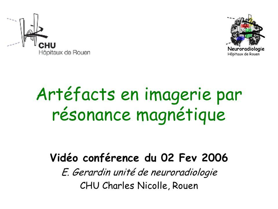 Artéfacts en imagerie par résonance magnétique