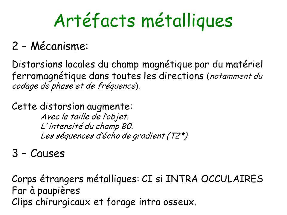 Artéfacts métalliques