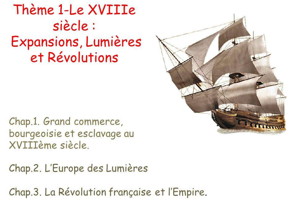 Thème 1-Le XVIIIe siècle : Expansions, Lumières et Révolutions