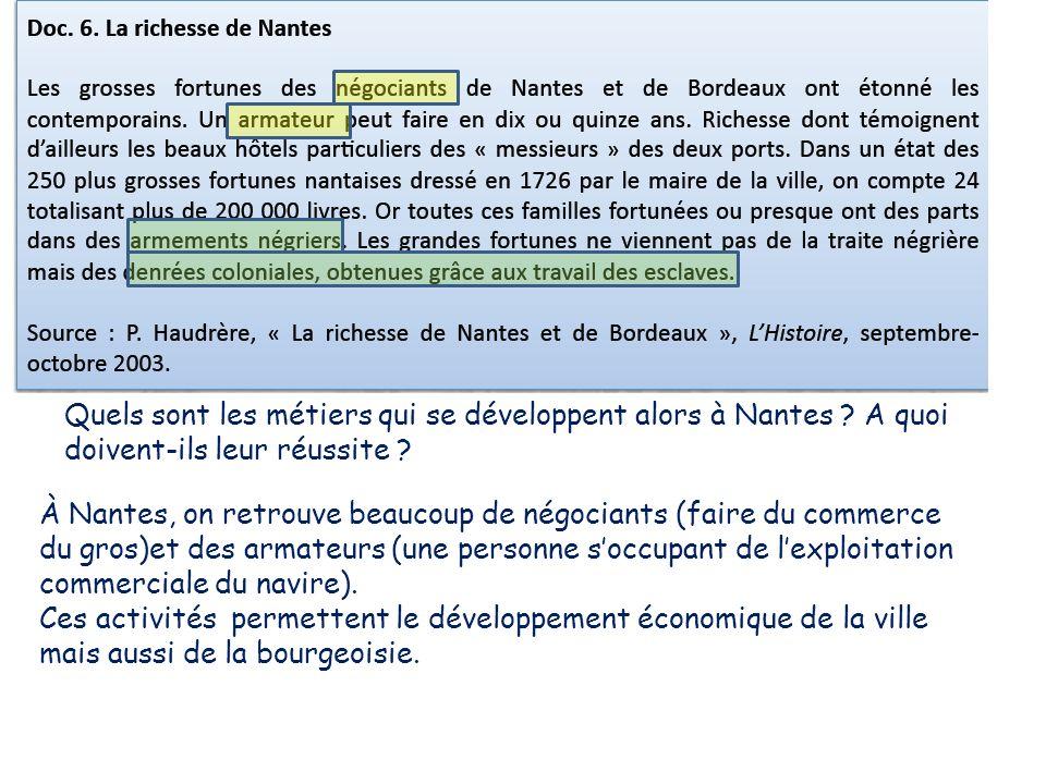Quels sont les métiers qui se développent alors à Nantes