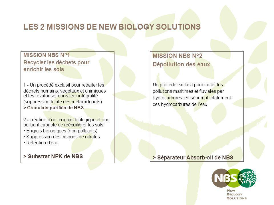 LES 2 MISSIONS DE NEW BIOLOGY SOLUTIONS