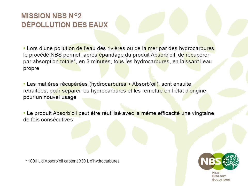 MISSION NBS N°2 DÉPOLLUTION DES EAUX