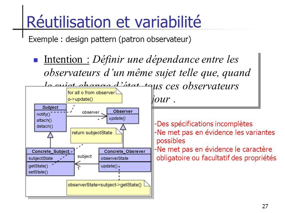 Réutilisation et variabilité