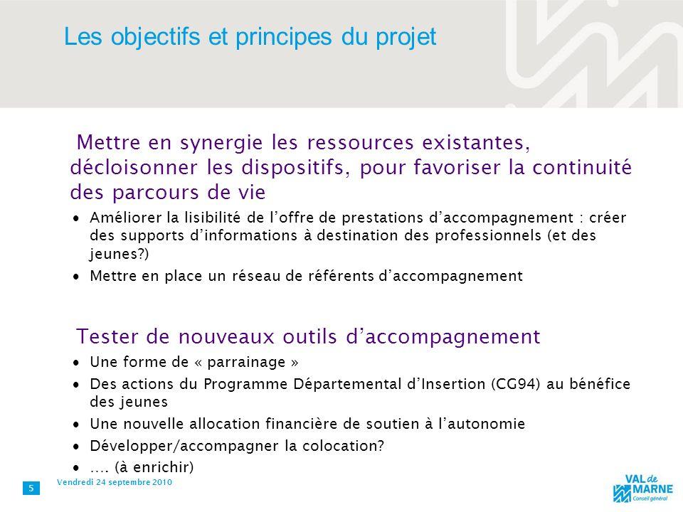 Les objectifs et principes du projet