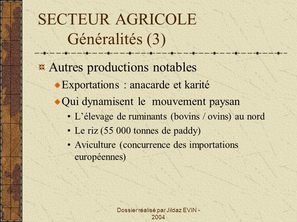 SECTEUR AGRICOLE Généralités (3)