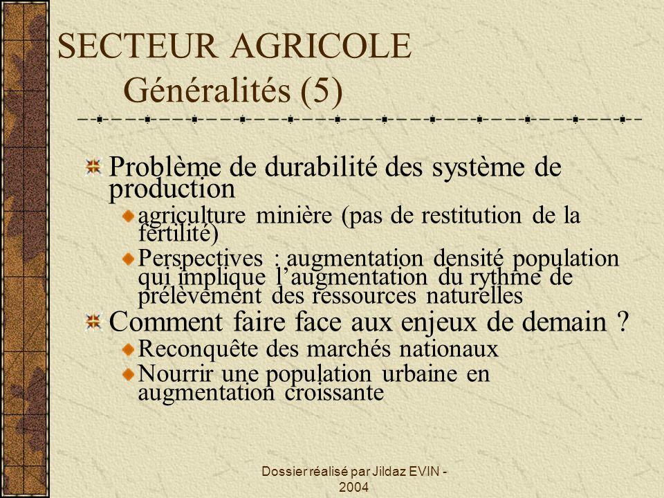 SECTEUR AGRICOLE Généralités (5)