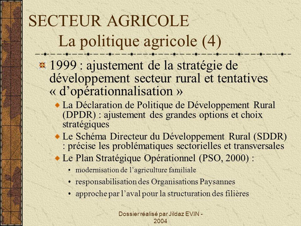 SECTEUR AGRICOLE La politique agricole (4)
