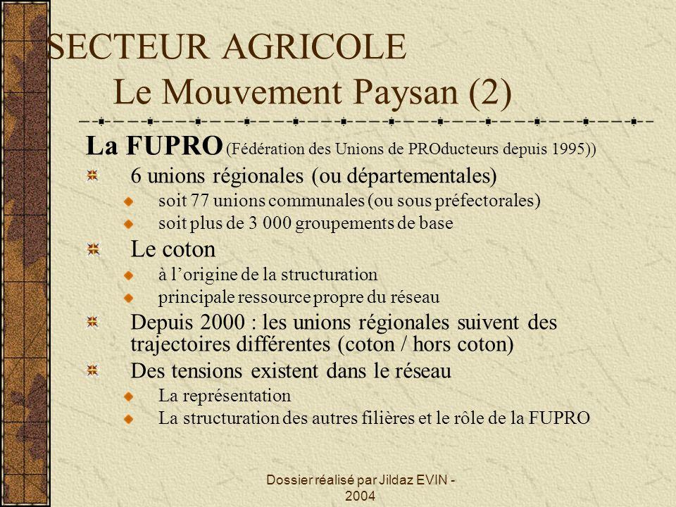SECTEUR AGRICOLE Le Mouvement Paysan (2)