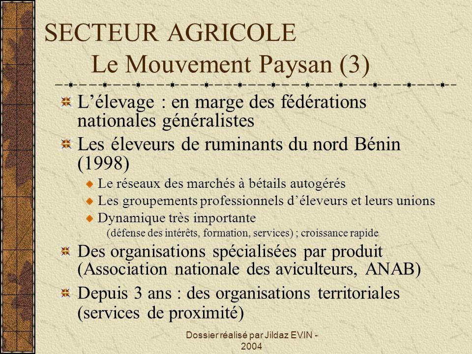 SECTEUR AGRICOLE Le Mouvement Paysan (3)