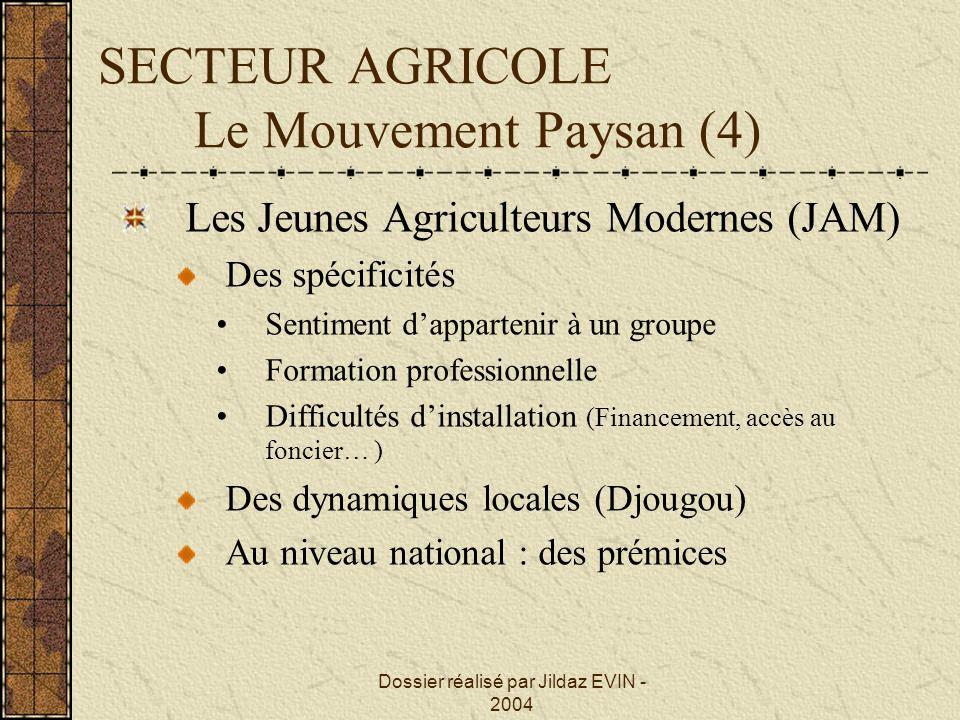 SECTEUR AGRICOLE Le Mouvement Paysan (4)