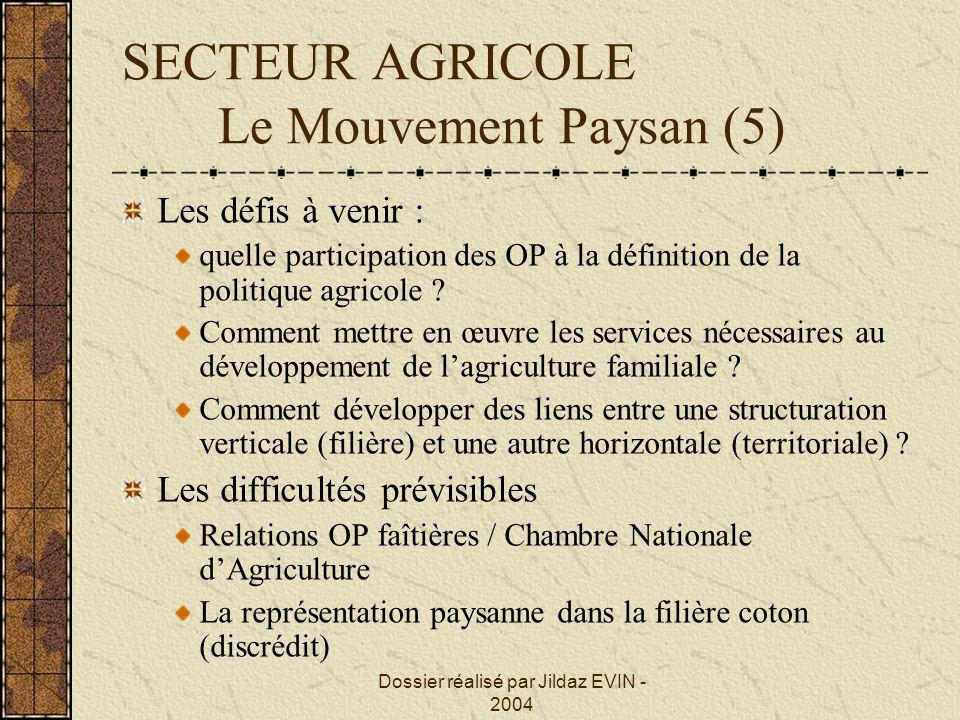 SECTEUR AGRICOLE Le Mouvement Paysan (5)