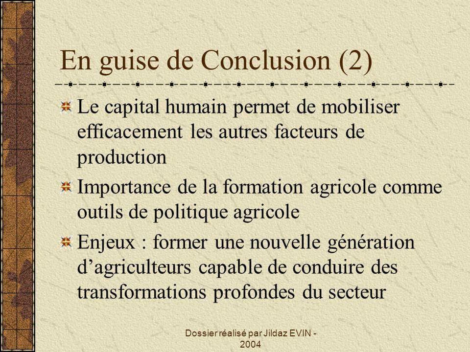 En guise de Conclusion (2)