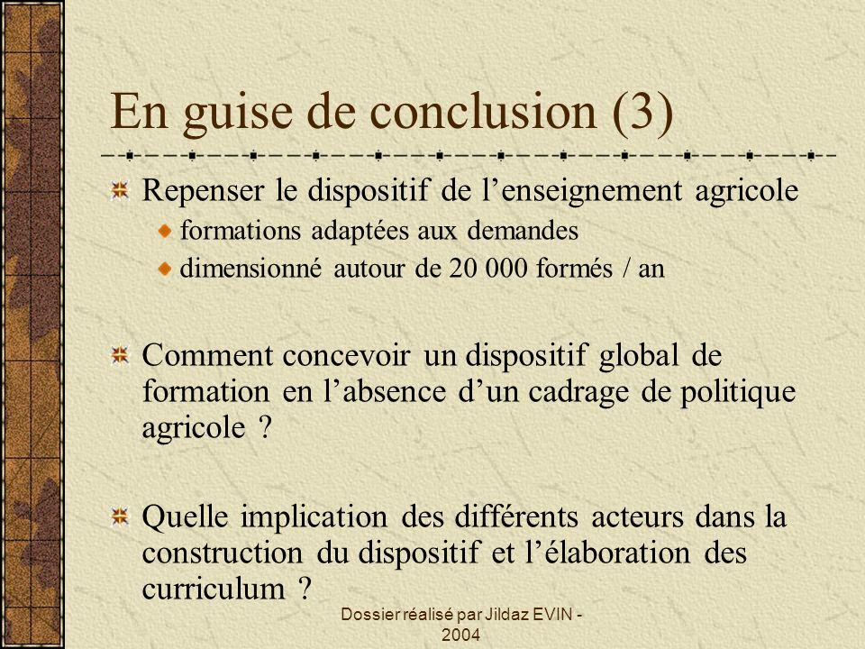 En guise de conclusion (3)