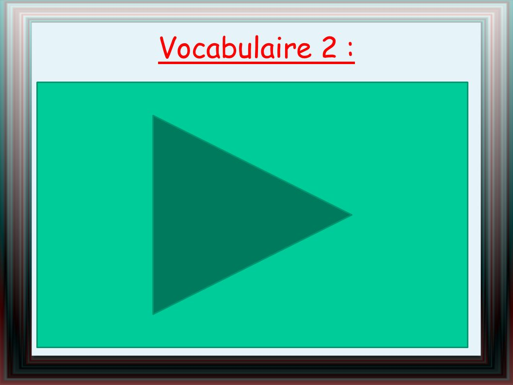 Vocabulaire 2 :