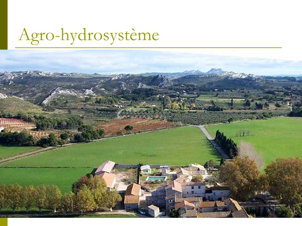 Agro-hydrosystème