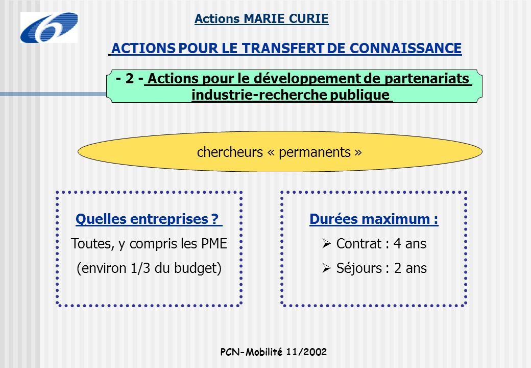 - 2 - Actions pour le développement de partenariats