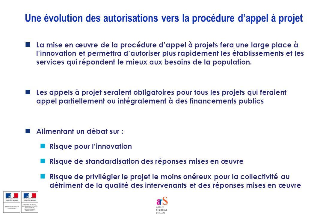 Une évolution des autorisations vers la procédure d'appel à projet
