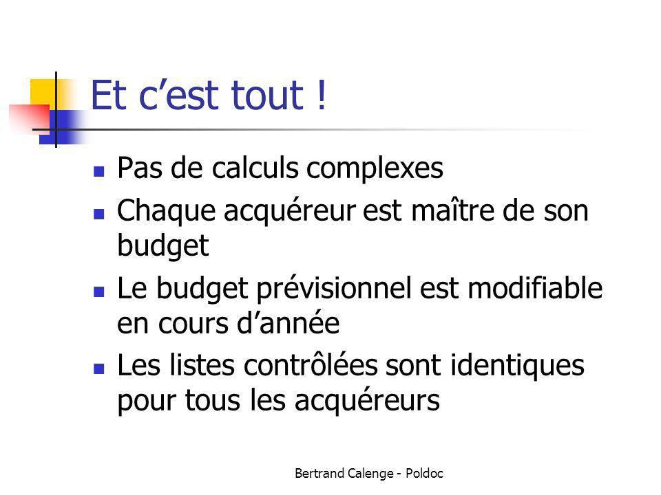 Bertrand Calenge - Poldoc