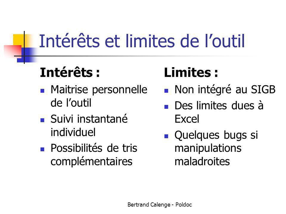 Intérêts et limites de l'outil