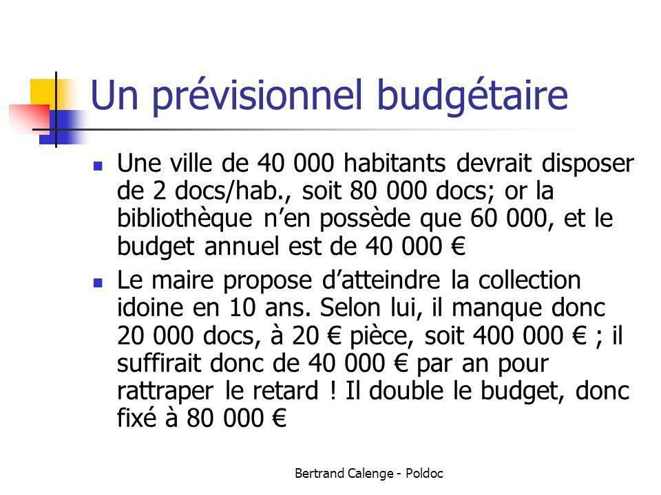 Un prévisionnel budgétaire