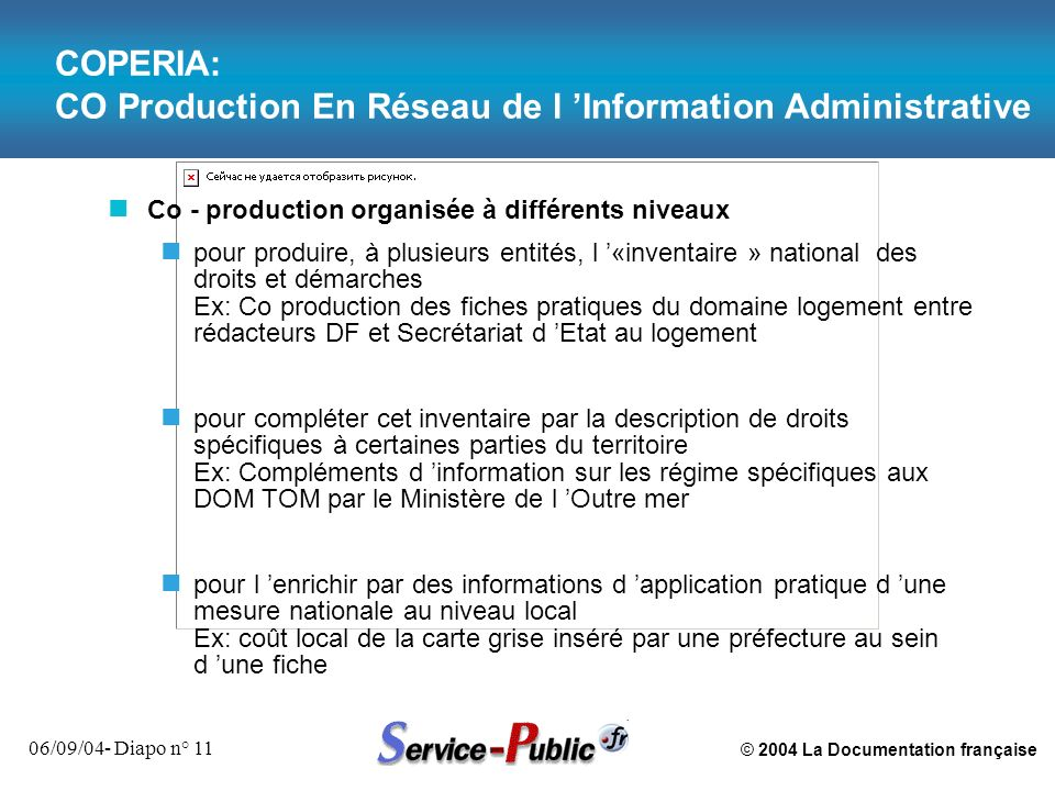 COPERIA: CO Production En Réseau de l 'Information Administrative