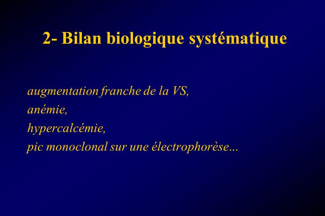 2- Bilan biologique systématique