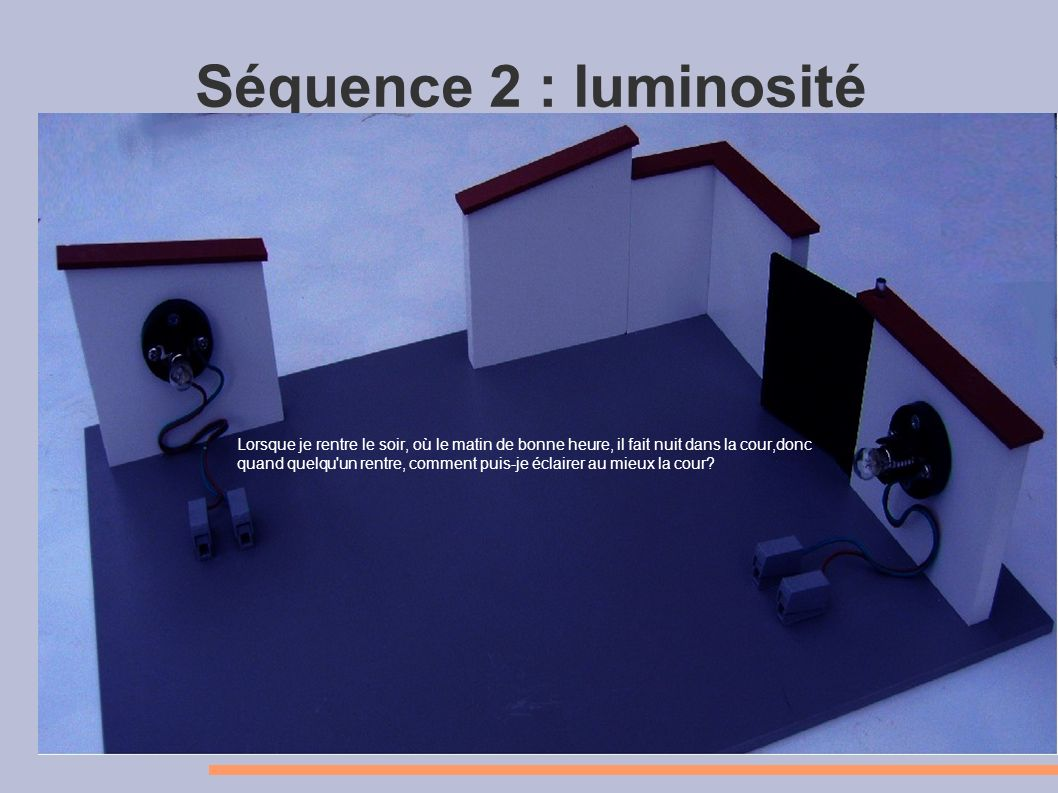 Séquence 2 : luminosité