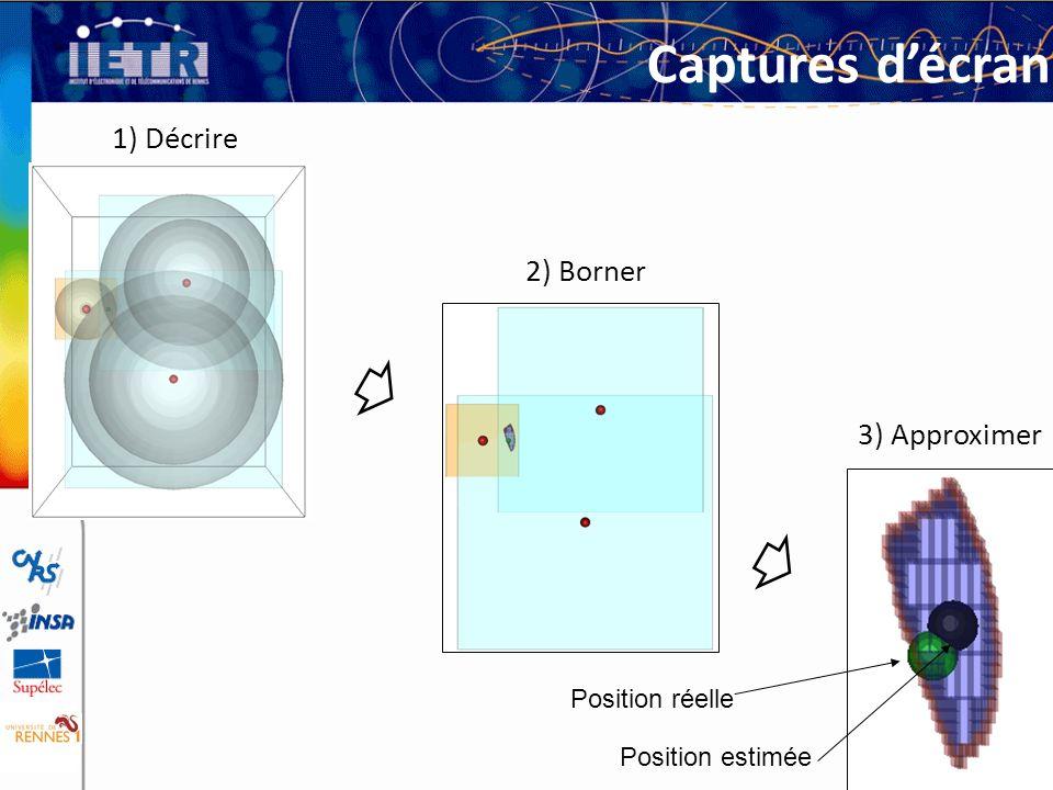 Captures d'écran 1) Décrire 2) Borner 3) Approximer Position réelle