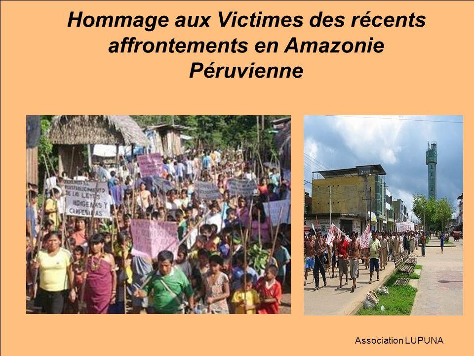 Hommage aux Victimes des récents affrontements en Amazonie Péruvienne