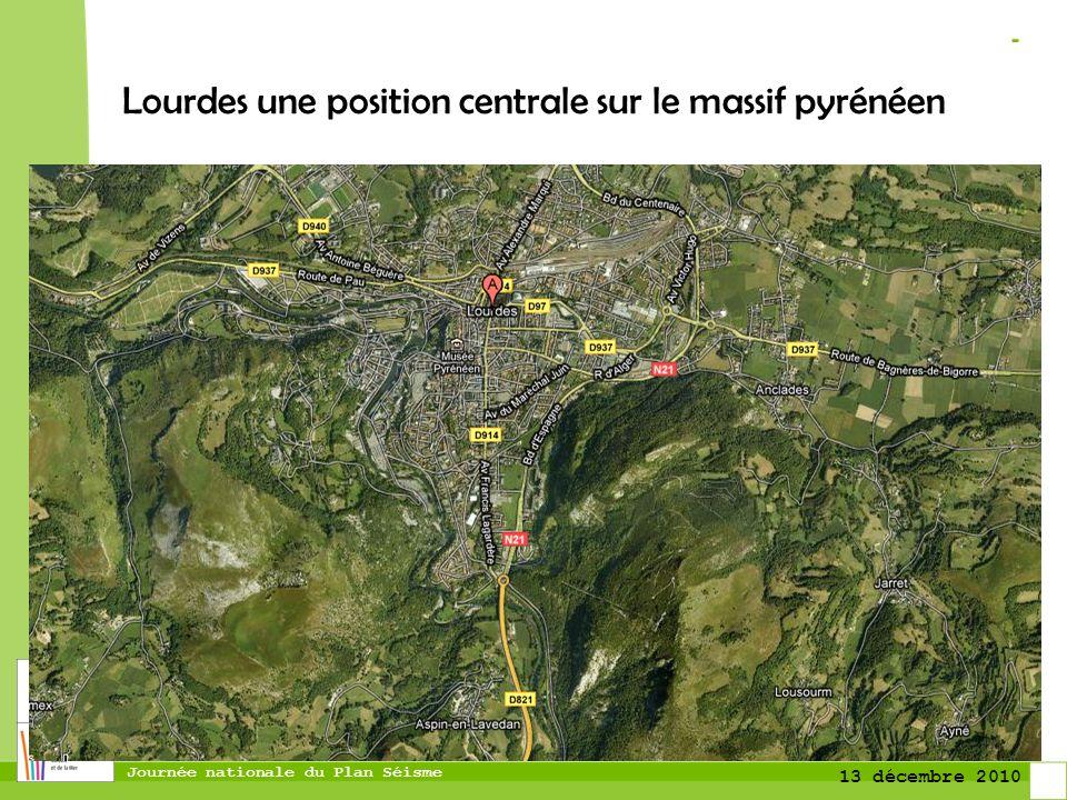 Lourdes une position centrale sur le massif pyrénéen