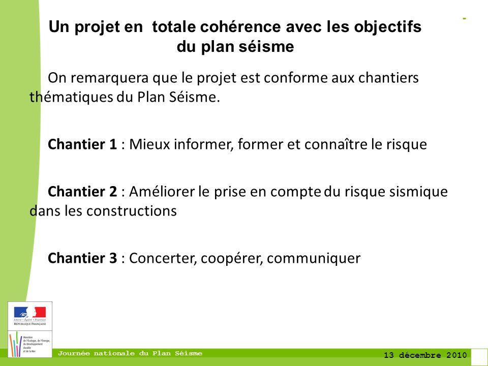 Un projet en totale cohérence avec les objectifs du plan séisme
